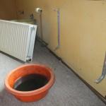 ne keer een radiator er af halen