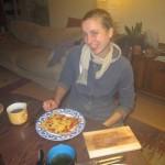 dan even naar de keuken, want na veel werken willen we lekker eten :)