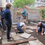 juist moet juist - een nieuw terras van de oude tegels