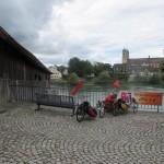 """en """"off we go"""" - hier bij de historische brug over de Rijn van CH naar DT"""