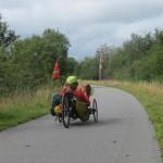geen treinen maar lekker fietsen ob de Vennbahn